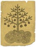 Kerstmisboom van de krabbel Stock Fotografie