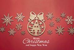 Kerstmisboom van gemaakte sneeuwvlokken stock foto's
