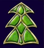 Kerstmisboom van het juweel Stock Afbeeldingen