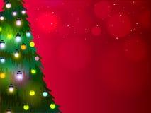 Kerstmisboom voor Vrolijke Kerstmisviering Stock Fotografie