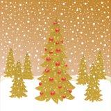 Kerstmisbos Stock Afbeeldingen