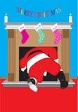 Kerstmisbrand van de kerstman Stock Afbeeldingen