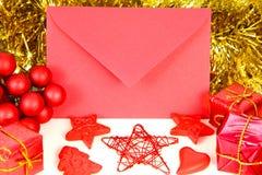 Kerstmisbrief Stock Foto's