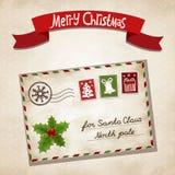 Kerstmisbrief Stock Foto