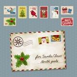 Kerstmisbrief Stock Fotografie