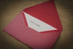 Kerstmisbrief, brief aan Kerstman Royalty-vrije Stock Foto's