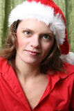 Kerstmisbrunette Royalty-vrije Stock Afbeeldingen