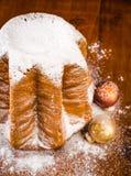 Kerstmiscake, pandoro Royalty-vrije Stock Foto's