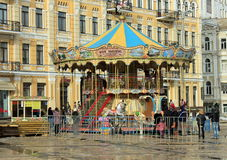 Kerstmiscarrousel Stock Foto