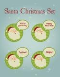 Kerstmisconcept: Santa Facial Expressions Stock Foto