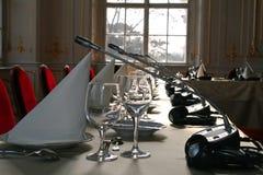 Kerstmisconferentie het dienen Royalty-vrije Stock Fotografie