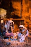 Kerstmiscrèche Royalty-vrije Stock Foto