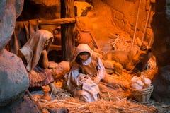 Kerstmiscrèche Royalty-vrije Stock Afbeeldingen