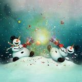 Kerstmiscracker stock illustratie