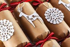 Kerstmiscrackers Stock Fotografie