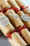 Kerstmiscrackers Royalty-vrije Stock Afbeeldingen