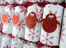 Kerstmiscrackers Royalty-vrije Stock Foto