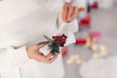 Kerstmisdecor i royalty-vrije stock fotografie
