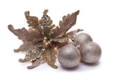 Kerstmisdecor op Witte Achtergrond Royalty-vrije Stock Fotografie