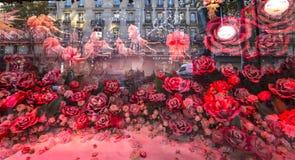 Kerstmisdecoratie bij de opslag van Le Printemps, Parijs, Frankrijk Royalty-vrije Stock Foto