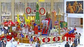 Kerstmisdecoratie bij oriëntatiepuntwinkelcomplex in Hongkong Royalty-vrije Stock Foto