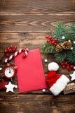Kerstmisdecoratie, brief aan Santa Claus Royalty-vrije Stock Fotografie