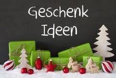 Kerstmisdecoratie, Cement, Sneeuw, de Ideeën van de de Middelengift van Geschenk Ideen Royalty-vrije Stock Foto's
