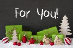 Kerstmisdecoratie, Cement, Sneeuw, Tekst voor u Royalty-vrije Stock Foto's