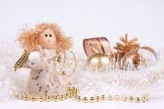 Kerstmisdecoratie, de samenstelling van een Engel stock foto's
