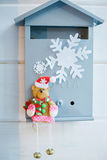 Kerstmisdecoratie in de vorm van een brievenbus Royalty-vrije Stock Afbeelding