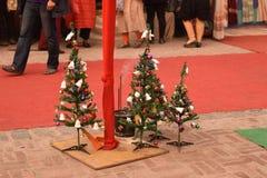 Kerstmisdecoratie in Delhi, India stock foto