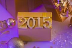 Kerstmisdecoratie en cijfers Royalty-vrije Stock Foto