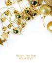 Kerstmisdecoratie en cijfers Royalty-vrije Stock Foto's