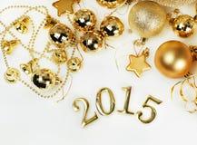 Kerstmisdecoratie en cijfers Royalty-vrije Stock Fotografie