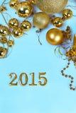 Kerstmisdecoratie en cijfers Stock Foto
