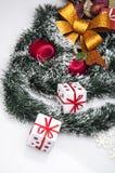Kerstmisdecoratie en de winterthema Stock Foto