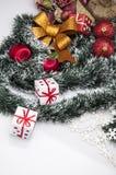 Kerstmisdecoratie en de winterthema Royalty-vrije Stock Afbeeldingen