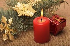 Kerstmisdecoratie en ornament Stock Foto
