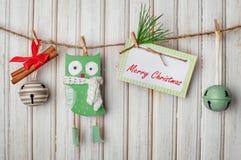 Kerstmisdecoratie en speelgoed stock afbeelding