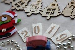 Kerstmisdecoratie en symbool van het jaar 2019 royalty-vrije stock foto's