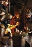 Kerstmisdecoratie, geboorte van Christusscène Royalty-vrije Stock Afbeelding