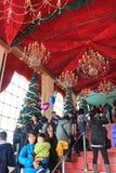 Kerstmisdecoratie in Harbout-Stad Royalty-vrije Stock Foto's