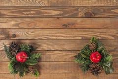 Kerstmisdecoratie, houten raad Stock Foto