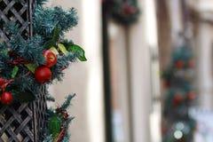 Kerstmisdecoratie in Innsbruck - Oostenrijk royalty-vrije stock foto's