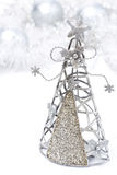 Kerstmisdecoratie - Kerstboom van metaal wordt gemaakt dat Stock Afbeelding