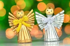 Kerstmisdecoratie, kleine engelen Stock Afbeelding