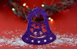 Kerstmisdecoratie met aromatische kaarsen royalty-vrije stock foto