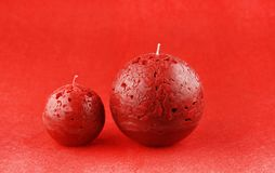 Kerstmisdecoratie met aromatische kaarsen royalty-vrije stock foto's