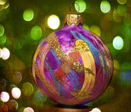 Kerstmisdecoratie met bokehlichten royalty-vrije stock foto's