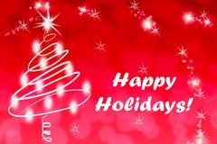 Kerstmisdecoratie met gelukkige vakantieteksten Royalty-vrije Stock Afbeelding